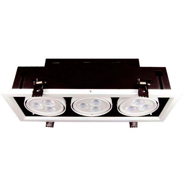 Downlight led,  Kardan x3 spots,  27W, Blanc froid